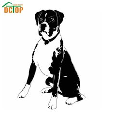 Powerful Boxer Dog Wall Decal Vinyl Hollow Out Living Room Decorative Wall Sticker Animal Design  Kids Boys Room Decals #Affiliate