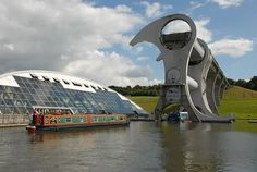 Falkirk Wheel the world's first and only rotating boat lift.