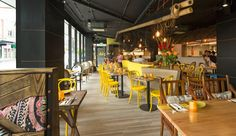 Lulu Vietnamese Restaurant by Hot Black. #InteriorDesign #Decor #MidCentury #Lighting #AustralianDesign #LightingDesign. For more inspiring images, click here: www.delightfull.eu