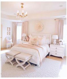 Room Design Bedroom, Girl Bedroom Designs, Room Ideas Bedroom, Dream Bedroom, Home Decor Bedroom, Classy Bedroom Ideas, Pink Master Bedroom, Classy Teen Bedroom, Cream And Pink Bedroom