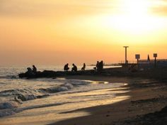 Lido di Ostia beach   Italy  I made a quick trip there the night I got to Rome