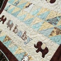 Pachyderm Procession Quilt Pattern - via @Craftsy