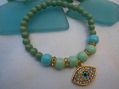 SALE GYPSY AMULET Bracelet Evil Eye jewelry Middle por Nezihe1