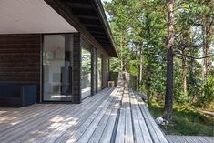 Sauna Kirkkonummella Saunas, Interior And Exterior, Sidewalk, Deck, Cottage, Cabin, Summer, House, Interiors