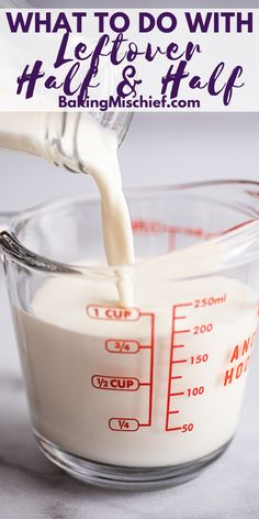 What to Do With Leftover Half and Half: storage and freezing tips plus recipe ideas to use up the leftovers. Half And Half Cream, Half And Half Recipes, Making Whipped Cream, Freezer Meals, Freezer Hacks, Coffee Creamer, Food Waste, Cream Recipes, Baking Tips