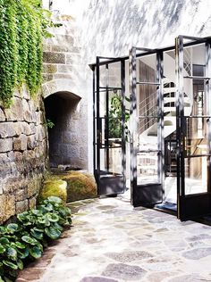 Tour an Australian Home Brimming with Character steel French doors