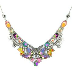 Ayala Bar Tiger Lily Necklace 130548 Fall 2014. Ayala Bar's Tiger Lily captures the essence of a stunning bohemian tapestry with its artistry, majestic tones and fun flirty florals.