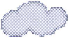 Cloud cross stitch pattern