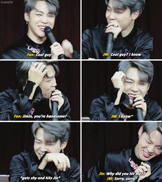 this makes me so happy jimin gets so embarrassed and i love him bc we act the same EMBRACE UR HANDSOME LIKE JIN DOES