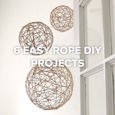 6 Easy Rope DIY Projects // #diy #rope #decor #homedecor #projects #crafty #Nifty