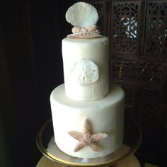 Baby shower beach cake VERY elegant!