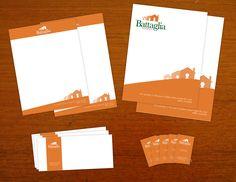 Papeleria de Desarrolladora inmobiliaria Battaglia (Hojas membretadas, Sobres postales, Tarjetas de presentación, Sobres Oficio y Carta)