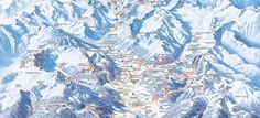 Ski maps for Stubai glacier in Austria. High resolution images of the official trails and runs guide.