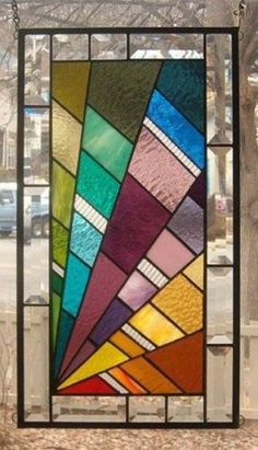 A Step Above Stained Glass Window Panel Signed and Dated | eBay