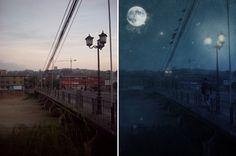Transformar el día en la noche