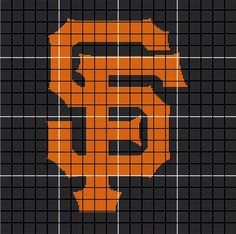 San Francisco Giants Crochet Afghan Pattern - Orange & Black by AngelicCrochetDesign on Etsy