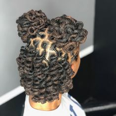 definitely getting bigger locs for my next set 📿 Dreads Styles For Women, Curly Hair Styles, Natural Hair Styles, Short Locs Hairstyles, Twist Hairstyles, Black Hairstyles, Wedding Hairstyles, Dreadlock Styles, Locs Styles