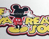 See Ya Real Soon Mickey Butt Good-bye paper piecings die cut title for scrapbook