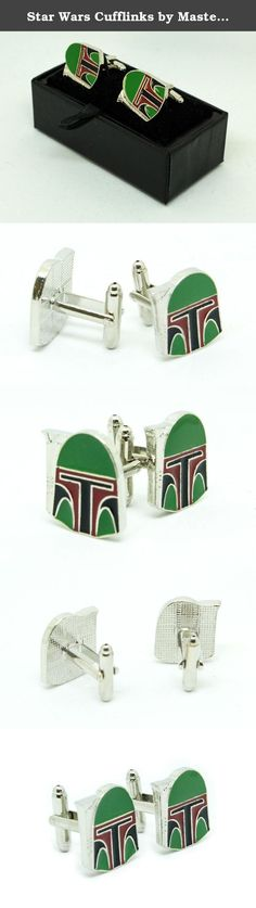 "Star Wars Cufflinks by MasterLinks - The Galactic Empire Collection (Boba Fett). Boba Fett Star Wars Cufflinks The Death of Boba Fett ""Boba Fett? Boba Fett? Where?"" -Han Solo, just before knocking Fett into the sarlacc. The legendary Mandalorian bounty Hunter met an untimely demise in ""Return of the Jedi"" when he was knocked inadvertently over the side of a desert skiff into the sarlacc by a blind Han Solo while fighting Luke Skywalker. He was born on Kamino, an unaltered clone of Jango…"