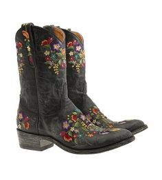 I don't wear boots but I love embroidery.  I might wear these!