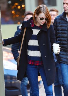 Emma Stone out for breakfast at Cafe Cluny in New York (27/12/14)