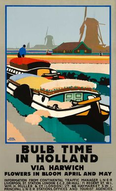 Railway posters for Holland tourism Posters Uk, Railway Posters, Ns Logo, Amsterdam, Tourist Agency, Visit Holland, National Railway Museum, Tourist Office, Poster Series