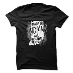 Indiana T-Shirt - Made In Indiana - #rock tee #tshirt pillow. GET => https://www.sunfrog.com/States/Indiana-T-Shirt--Made-In-Indiana.html?68278
