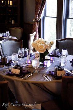 Purple, silver and black reception