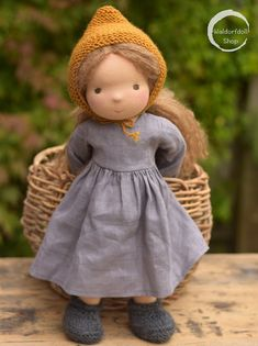 NORA, Traditional Waldorf Doll- NORA, Traditional Waldorf Doll Waldorf Doll Shop waldorfdollshop Traditional Waldorf Dolls by Waldorf Doll Shop Doll Toys, Baby Dolls, Kids Dolls, Doll With Hair, Homemade Dolls, Waldorf Toys, Doll Shop, Sewing Projects For Kids, Doll Tutorial
