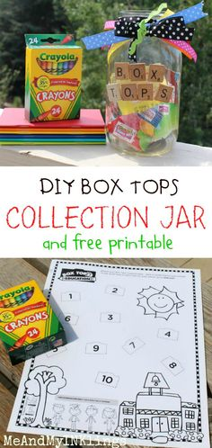 Box Tops for Education - Back to School Jar and Free Printable