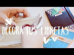 ♡ IDEAS PARA DECORAR TUS CUADERNOS ♡ | Ale90cb - YouTube