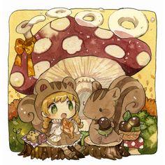 秋ピクニック by もかろーる | CREATORS BANK http://creatorsbank.com/mokarooru/works/311068