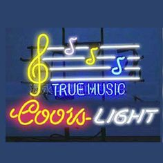 Coors True Music Beer Bar Open Neon Signs///How I love you neon signs , Real nice for my Home Bar Deco