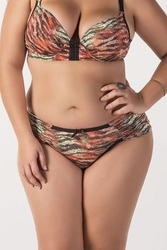 Calcinha Plus Size lateral dupla drapeada | Gullis Moda Feminina