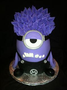 Purple Minion cake (Despicable Me) www.rachelscakeli.com www.facebook.com/Rachel.m.cakes