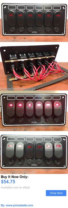 boat parts: Marine Boat 6 Gang Waterproof Horizontal Led Switch Panel Aluminum Plate 12Vdc BUY IT NOW ONLY: $54.75 #priceabateboatparts OR #priceabate