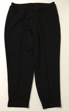 Worthington Woman Women's Stretch Black Elastic Waist Pull On Pants Size 2X
