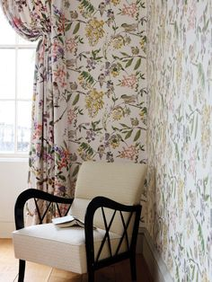 Penlai collection by Nina Campbell - available from Rodgers of York #interiors #wallpaper