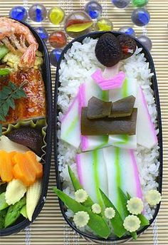 Kimono Lady Back, Japanese Bento Art Anime Bento, Bento Recipes, Baby Food Recipes, Bento Ideas, Japanese Bento Box, Japanese Food, Bento Kawaii, Cute Food, Yummy Food