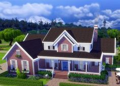 Family Dream House really is the perfect house for a large family with a maximum of 8 Sims. Swimming Pool, Party Room, Home Gym, Home Office, Nursery.