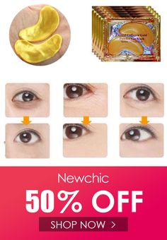 1 Pair Gold Crystal Collagen Eye Mask Dark Circle Eye Bags Patches is good quality, come to NewChic see 1 Pair Gold Crystal Collagen Eye Mask Dark Circle Eye Bags Patches now! Bag Patches, Dark Circles, Face Care, Collagen, Health And Beauty, Crystals, Gold, Eye, Facials