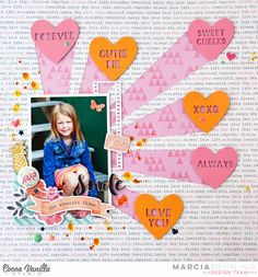 Adorable Valentine's Day Layout
