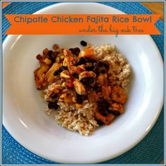 Chipotle Chicken Fajita Rice Bowl  Weight Watchers Simply Filling Friendly