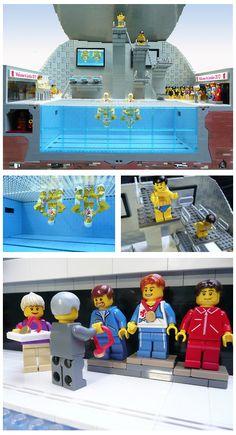 London 2012 Olympics Aquatic Center Diving Pool designed by Artist Gary Davis