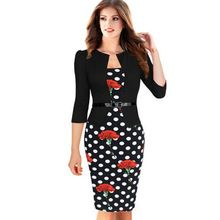 5XL Womens Elegant Faux Twinset Belted Tartan Floral Patchwork Wear to Work Business Office Cocktail Pencil Sheath Bodycon Dress