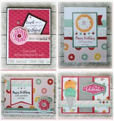 Hi Everyone,  Today I have another card kit rather than a Scrapbook kit. This kit features the Sugar Rush papers and new Sugar Rush Glitter ...