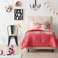 Those ice cream cones! That flamingo! /// Pillow Fort Kids Decor Collection