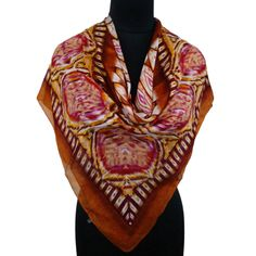 Pure Silk Fashionable Beige Scarf Women Wrap Shoulder Stole India 40? X 40? ..this is img