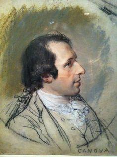 Hugh Douglas Hamilton, Portrait d'Antonio Canova, pastel, Metropolitan Museum, N. Y.