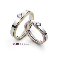 Dabouq Studio Couple Ring - DR0004 - Simple+